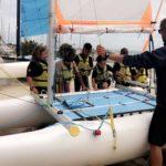 Catamaran Colonies de vacances à la mer l'été