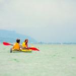 Kayak de mer en colo été