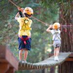 Parcours dans les arbres colonies de vacances